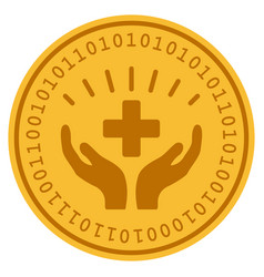 Medical prosperity digital coin vector