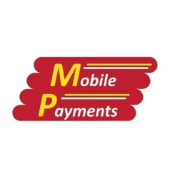 Mobile payments logotype vector image