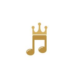 Music king logo icon design vector