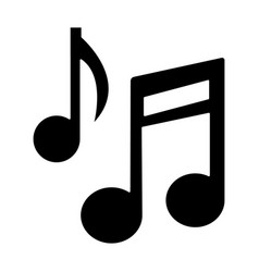 music note base icon black vector image