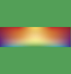 panoramic gradient rainbow background vector image