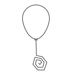 party balloon icon vector image