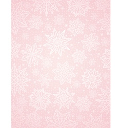 Pink christmas background with snowflakes and star vector