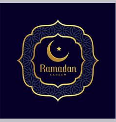 Ramadan kareem islamic golden background vector