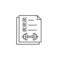 regular sport exercises line icon on white vector image