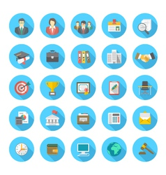 Round Flat Resume Icons vector image
