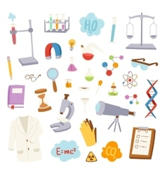 Science lab icons vector image