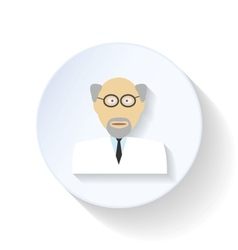 Scientist flat icon vector image