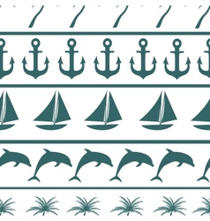 Sea seamless pattern background ilustration vector image