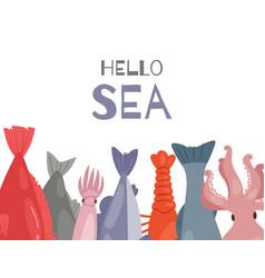 seafood restaurant menu poster vector image