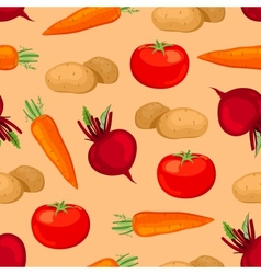 Seamless vegetables pattern vector image