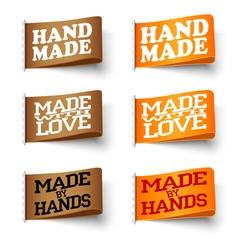 Set of textile labels vector