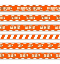 Set of warning tapes vector image