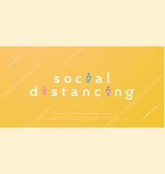 Social distancing modern logo design concept vector