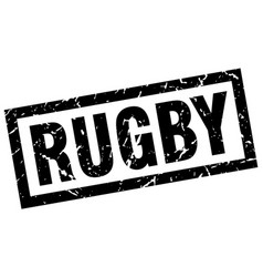 Square grunge black rugby stamp vector