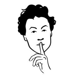 Ssshhh quiet vector