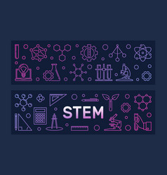 Stem concept two colorful banners in vector