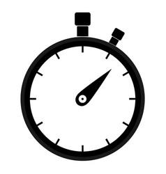 stopwatch icon black color icon vector image