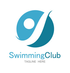 Swimming club logo vector