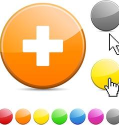 Switzerland glossy button vector