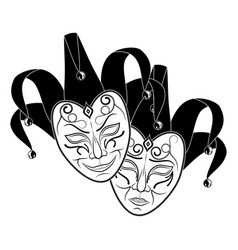 theatrical mask 11 vector image
