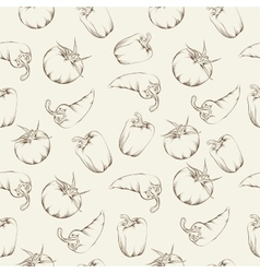 Vegetable pattern - beige vector image