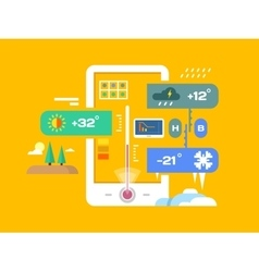 Weather application vector