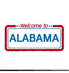 welcome to alabama of us state design vector image