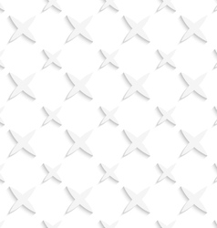 White small and big stars seamless pattern vector image