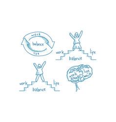 work life balance template set vector image