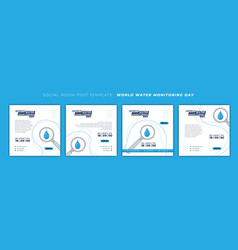 World water monitoring day design with magnifier vector