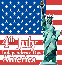Fourth of july independence day card vector image vector image