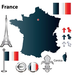 France flag small vector image