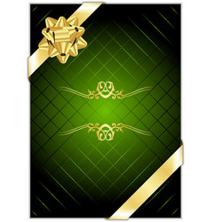 green gold present background vector image vector image