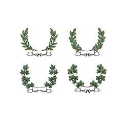 Wreath set vector image vector image