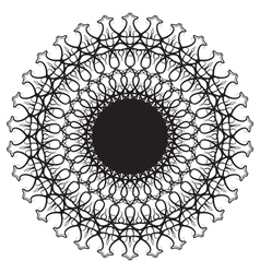 Abstract - black lines central round vector