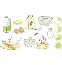 baking set vector image vector image