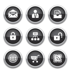 black web buttons vector image vector image
