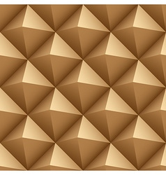 Brown wood triangles seamless pattern vector image vector image