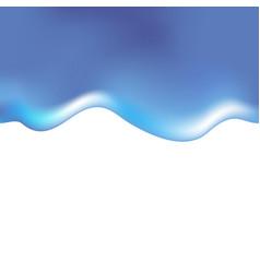 realistic water aqua backdrop blue clean color vector image