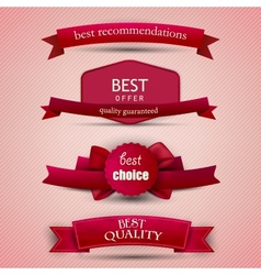 Set of Superior Quality and Satisfaction Guarantee vector image vector image