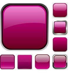 Square magenta app icons vector image vector image