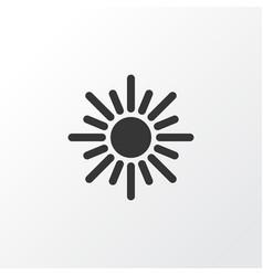 sun icon symbol premium quality isolated sunny vector image