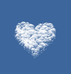 white cloudy valentine heart vector image vector image