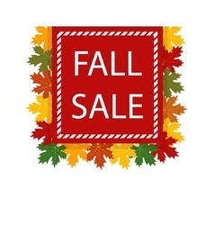 Autumn fall sale Maple leaves vector image