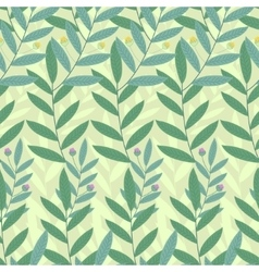 Floral seamless pattern Background of green vector image