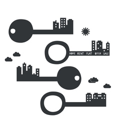 Key from your new flat vector