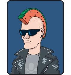 punk rocker vector image vector image