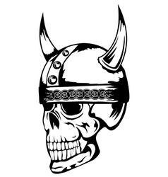 Skull in viking helmet 3 vector