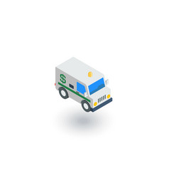 encashment service car bank collector van money vector image vector image
